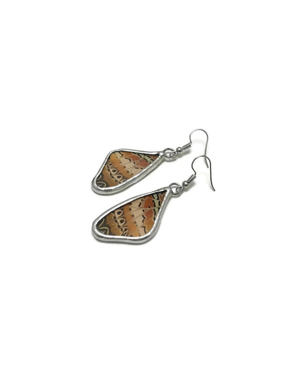 Butterfly earrings, Unique Gifts for mom, jewelry For her, real butterfly wing, Statement jewelry, Butterfly earrings, butterfly taxidermy