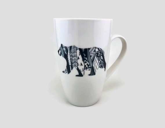 bear mug, unique gifts for him, mountain decor, unique gifts, coffee cup, bear themed mug, bear home decor, gifts for her, bear lover, gifts