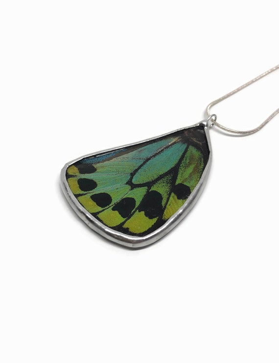 Real butterfly jewelry, unique gifts for mom, real butterfly wing, statement jewelry, insect jewelry, butterfly taxidermy, unique jewelry