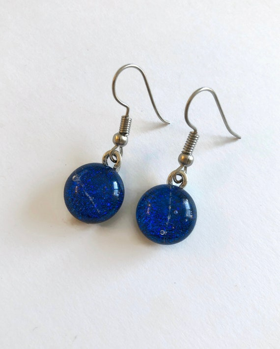 Glass jewelry, statement jewelry, dichroic glass earrings, fused glass earrings, glass earrings, dichroic glass earrings, unique gifts