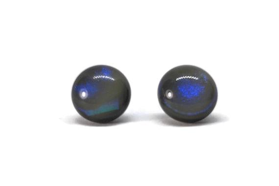 Glass studs, glass jewelry, fused glass jewelry, glass earrings, dichroic glass jewelry, fused glass earrings, dichroic glass earrings