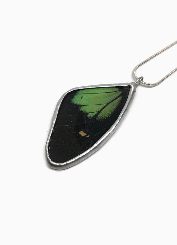 Real Butterfly jewelry, unique gifts, gifts for her, butterfly pendant, real butterfly wing, Insect necklace, glass Pendant, insect jewelry