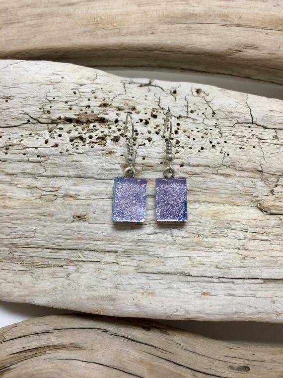Fused glass jewelry, Dichroic glass jewelry, fused glass earrings, glass earrings, dichroic glass earrings, glass earrings, Unique jewelry