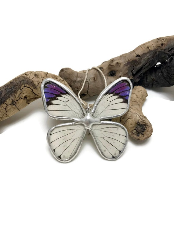 butterfly necklace, statement jewelry, real butterfly jewelry, gifts for her, butterfly pendant, Bridal jewelry, butterfly Taxidermy, gifts