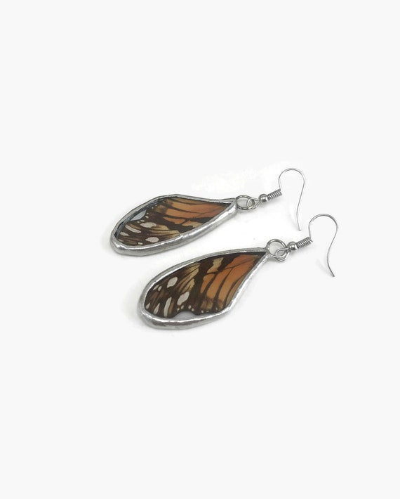 butterfly earrings, unique gifts for her, real butterfly Wing, butterfly gifts, Bridal jewelry, insect jewelry, Butterfly taxidermy, gifts