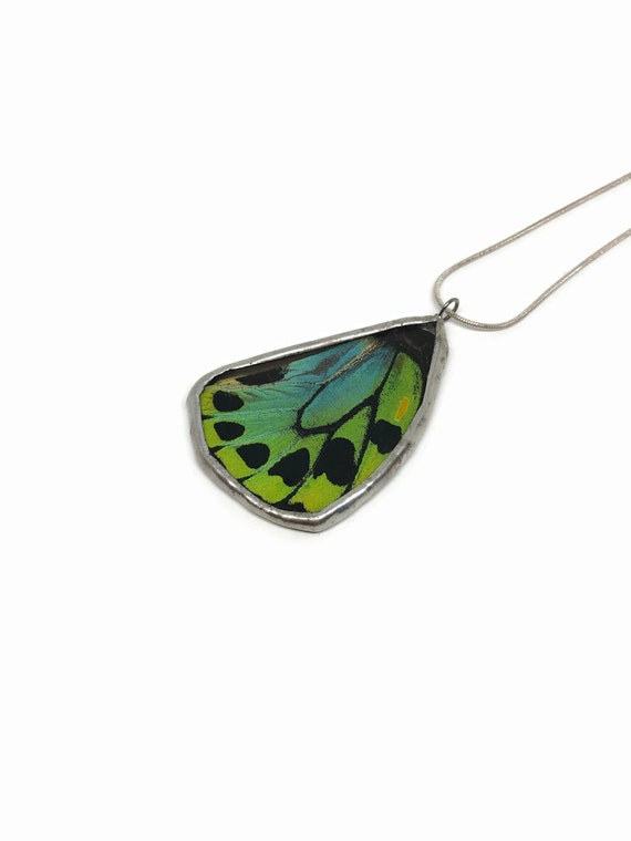 butterfly pendant, unique gifts for her, Jewelry for her, real butterfly wing, statement jewelry, insect jewelry, best friend gifts, gifts