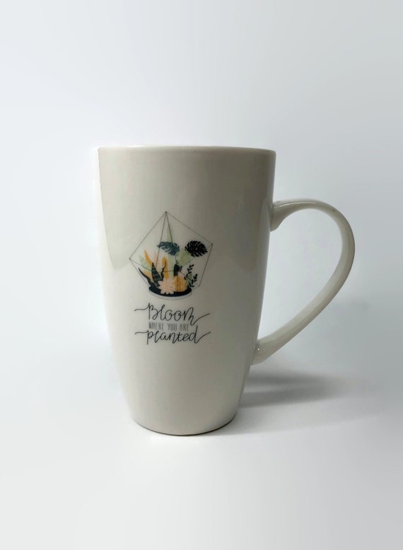 Handcrafted Plant Coffee cup, unique gifts for her, plant home decor, plant themed mug, coffee lover