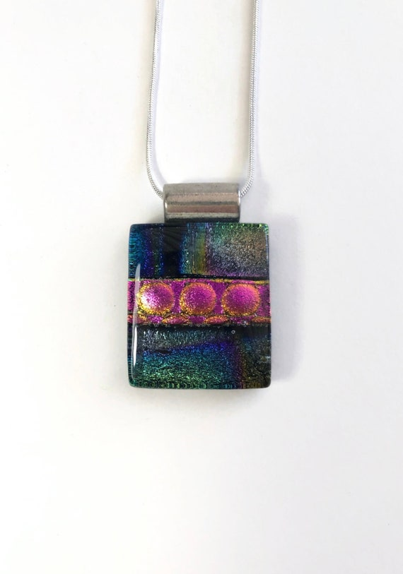 Dichroic Glass Jewelry, unique gifts, jewelry for her, glass pendant, Unique gifts for her, fused Glass Jewelry, best friend gifts, gifts