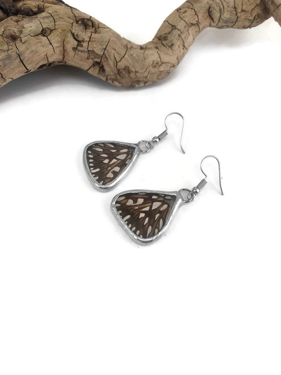 Unique jewelry, Real butterfly jewelry, real butterfly wing, Butterfly earrings, insect earrings, insect jewelry, butterfly taxidermy