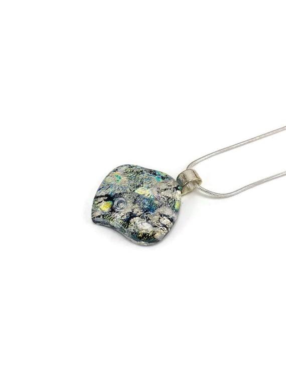 glass necklace, glass pendant Dichroic glass pendant, dichroic glass jewelry, dichroic glass, fused glass pendant, fused glass necklace