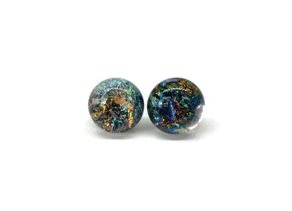 Fused Glass studs, glass jewelry, fused glass earrings, glass earrings, fused glass jewelry, Glass studs, unique jewelry, minimalist jewelry