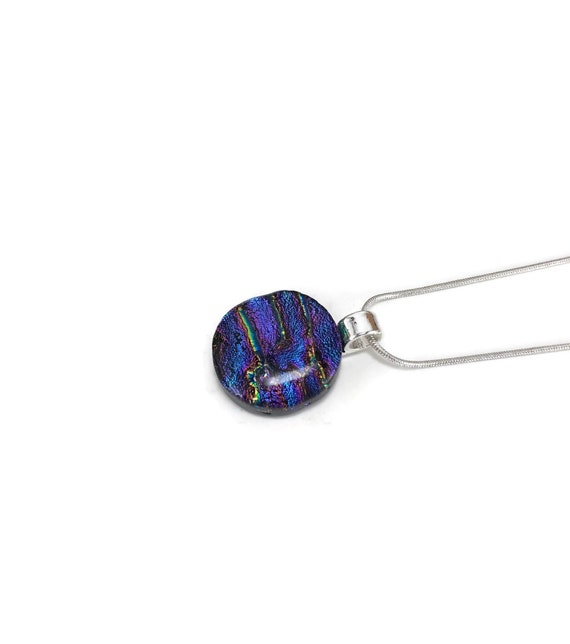 Fused Glass Pendant, gifts for mom, Dichroic glass pendant, best friend gifts, glass necklace, unique jewelry, gifts for her, glass pendant