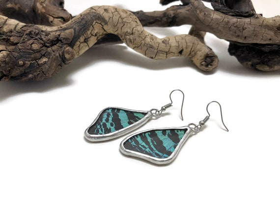 Real butterfly jewelry, statement earrings, real butterfly wing, Butterfly earrings, insect jewelry, Unique gifts for her, insect earrings