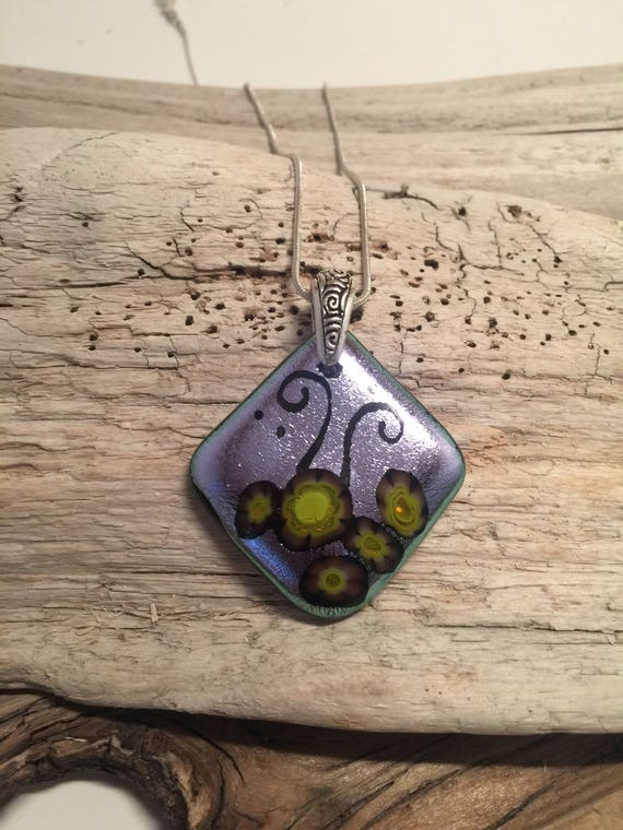 Dichroic Glass Jewelry, statement jewelry, glass pendant, unique gifts, Fused glass Pendant, Gifts for mom, bridal jewelry, unique jewelry