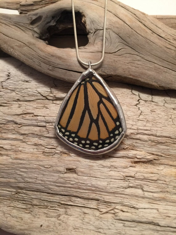 butterfly jewelry, unique jewelry, real butterfly wing, real butterfly pendant, Statement jewelry, butterfly necklace, monarch butterfly