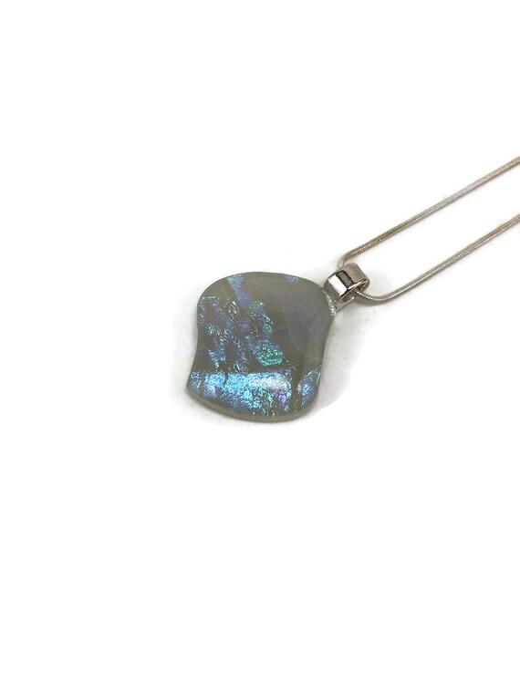 Dichroic glass pendant, unique jewelry, fused glass necklace, unique gifts for mom, glass pendant, gifts for her, glass necklace, gifts