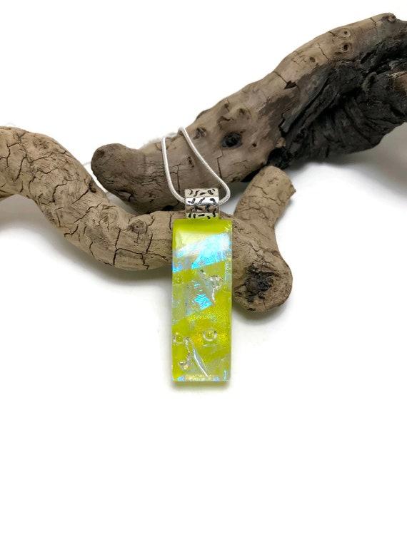 glass necklace, statement jewelry, fused glass jewelry, gifts for her, Fused glass necklace, bridal jewelry, glass pendant, gifts for mom