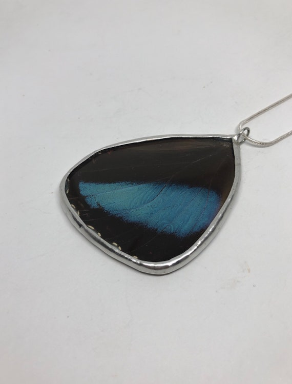 Butterfly jewelry, unique gift for her, real butterfly Wing, Jewelry for mom, insect jewelry, statement necklace, butterfly taxidermy, gifts