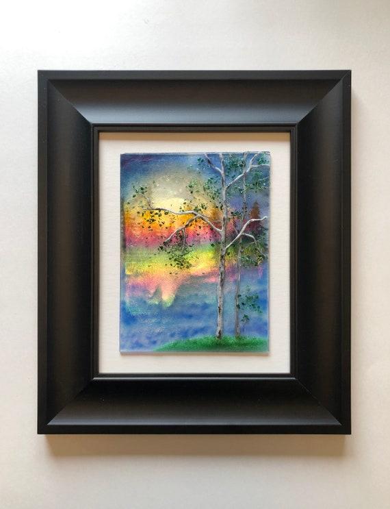 Glass art, unique gifts for him, glass wall art, unique art, Fused glass art, glass wall panel, Modern art, home decor, glass sculpture