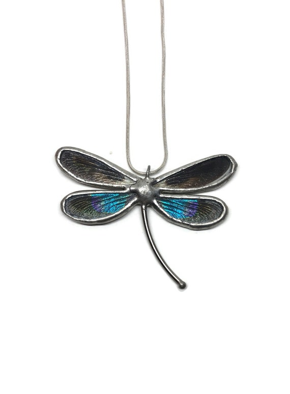 Dragonfly necklace, jewelry for her, statement jewelry, dragonfly pendant, Unique jewelry, insect pendant, insect taxidermy, unique gifts