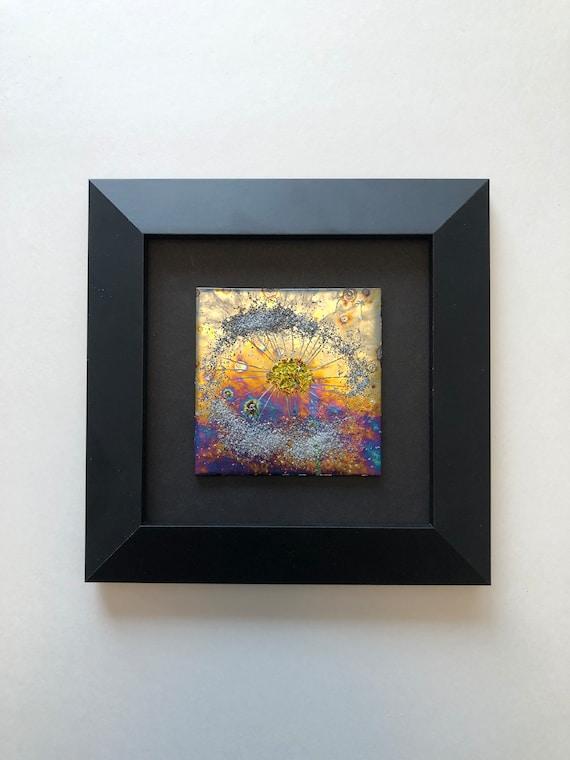 Fused Glass art, Glass art, unique gifts, glass home decor, glass wall panel, Fused Glass art, glass sculpture, unique art, landscape art