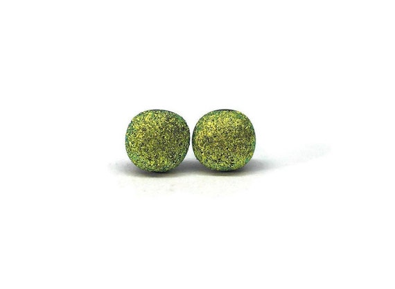 Glass jewelry, minimalist earrings, fused glass earrings, Unique gifts for her, dichroic glass studs, unique jewelry, glass jewelry, gifts