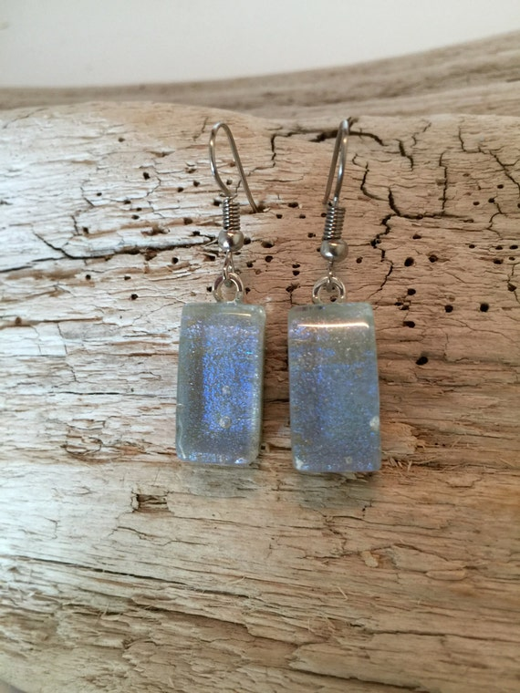 Dichroic glass jewelry, fused glass jewelry, glass earrings, glass jewelry, dichroic glass, fused glass earrings, dichroic glass earrings