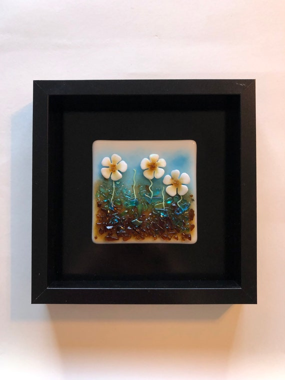 Handcrafted modern glass art, unique art, fused glass panel, Unique gifts, Glass sculpture, glass home decor