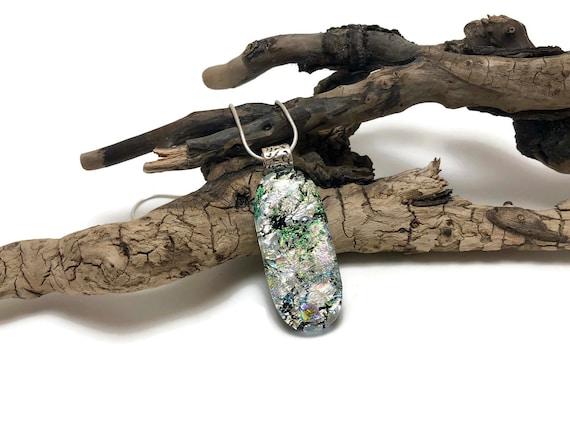 Fused glass Jewelry, unique jewelry, glass necklace, Glass Pendant, Glass Jewelry, Dichroic glass jewelry, fused glass pendant, glass