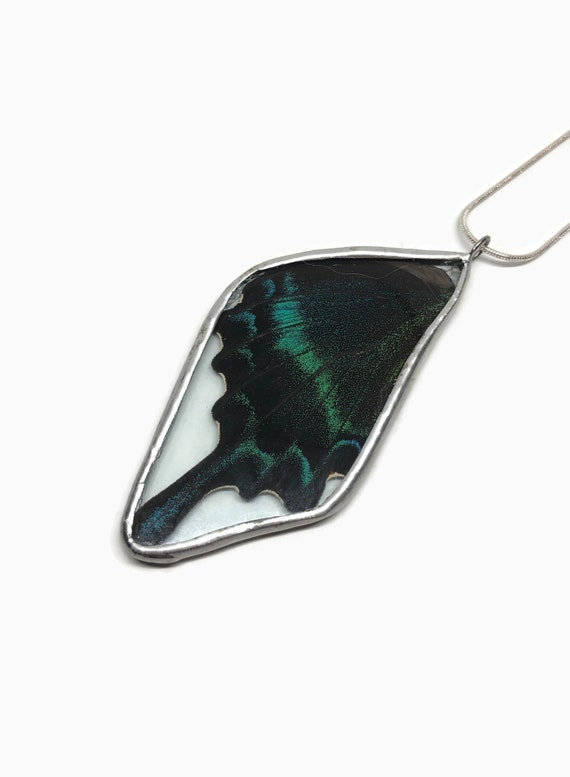 Real Butterfly jewelry, unique gifts for her, real butterfly wing, statement jewelry, birthday gifts for her, insect necklace, gifts for mom