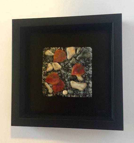glass art, fused glass art, fused glass wall panel, home decor, wall art, fused glass panel, fused glass wall art, fall art