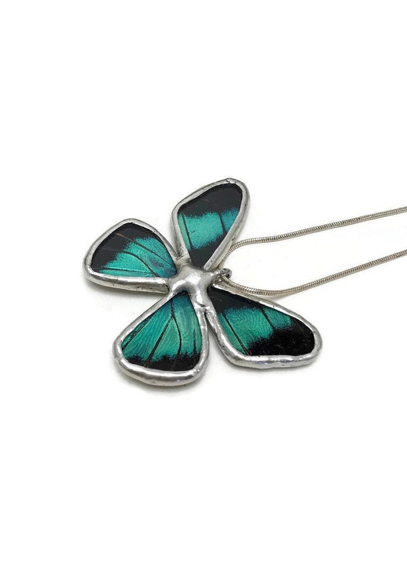 real butterfly jewelry, statement pendant, insect necklace, bridal jewelry, Real Butterfly Wing, unique gifts for mom, butterfly taxidermy