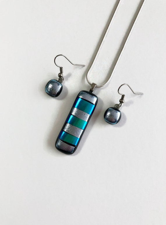 Fused Glass jewelry, statement jewelry, gifts for mom, unique gifts for her, dichroic glass jewelry, glass jewelry, jewelry for her, gift