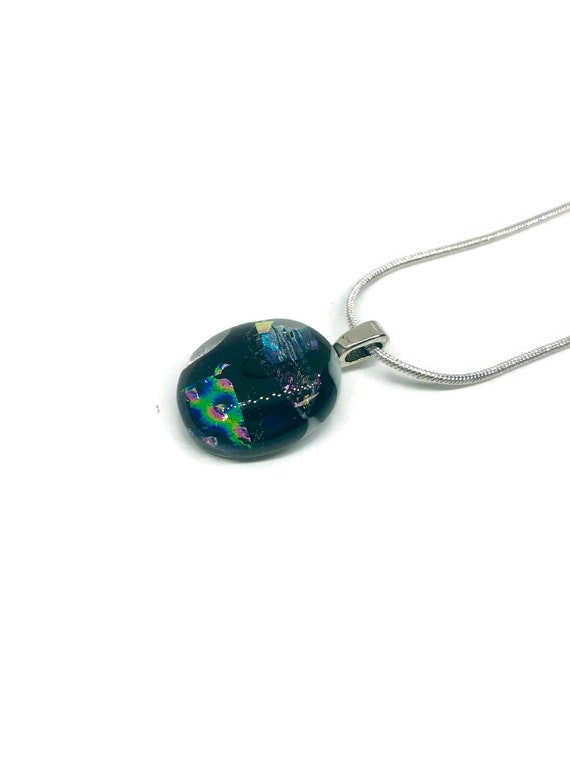 glass pendant, unique jewelry, Unique gifts for mom, dichroic Glass Necklace, Glass Necklace, Fused glass Necklace, glass jewelry, gifts