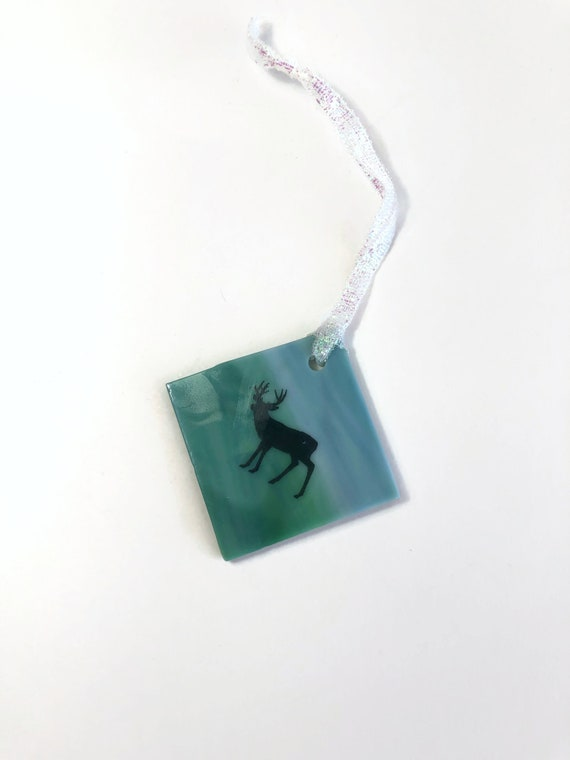 Tree ornament, unique gifts for her, glass tree ornament, fused glass decoration, Christmas decoration, glass ornament, Christmas ornament