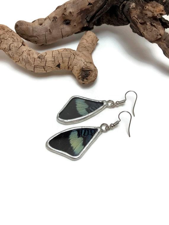 Real butterfly jewelry, Butterfly earrings, glass earrings, insect earrings, insect jewelry, glass jewelry, butterfly jewelry, butterfly