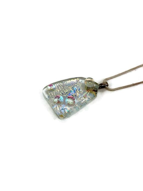 Dichroic Glass jewelry, unique jewelry, glass pendant, Fused Glass Jewelry, Fused glass pendant, glass Necklace, Dichroic Glass pendant