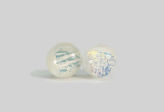 Glass earrings, minimalist earrings, dichroic glass studs, unique gifts for her, Bridal earrings, fused glass earrings, Unique jewelry