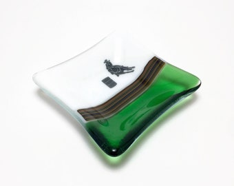 Fused glass plate, cowgirl plate, glass dish, western plate, glass Art, Western home decor, Western art
