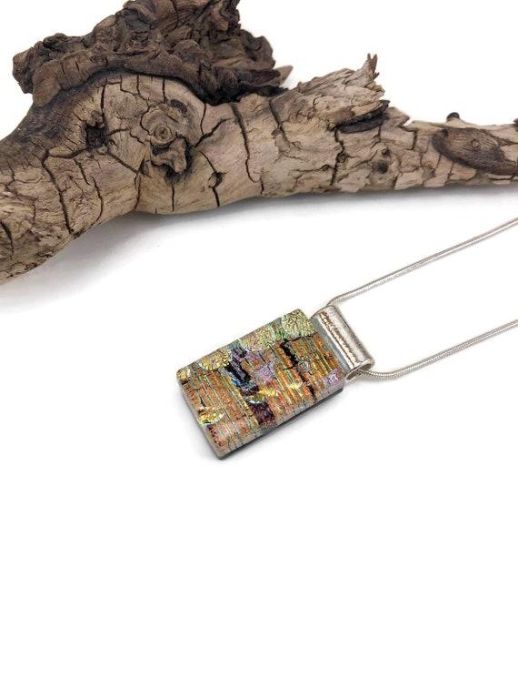 Glass Pendant, Dichroic glass pendant, glass necklace, Glass Jewelry, fused Glass Jewelry, dichroic glass jewelry, fused glass pendant