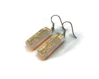 Dichroic glass jewelry, Glass sparkle earrings, fused glass earrings, statement earrings, best friend gifts