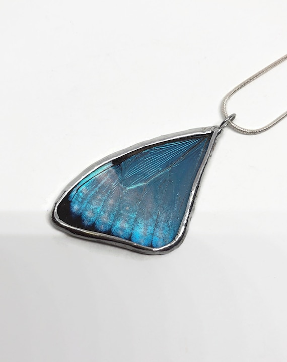 Butterfly Jewelry, Unique jewelry, butterfly Pendant, butterfly necklace, blue morpho butterfly, insect jewelry, real butterfly wing, gifts