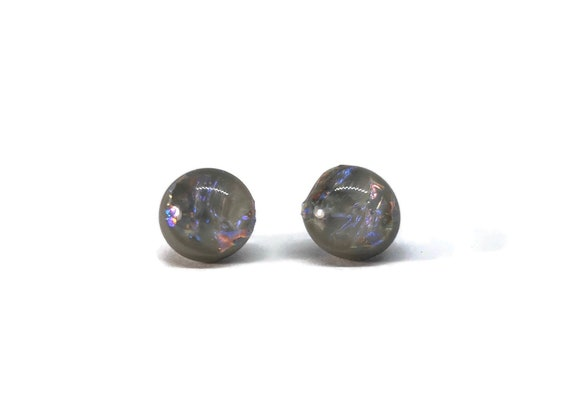 Glass studs, Gifts for mom, Glass earrings, minimalist jewelry, fused glass earrings, bridal jewelry, dichroic glass earrings, unique gifts