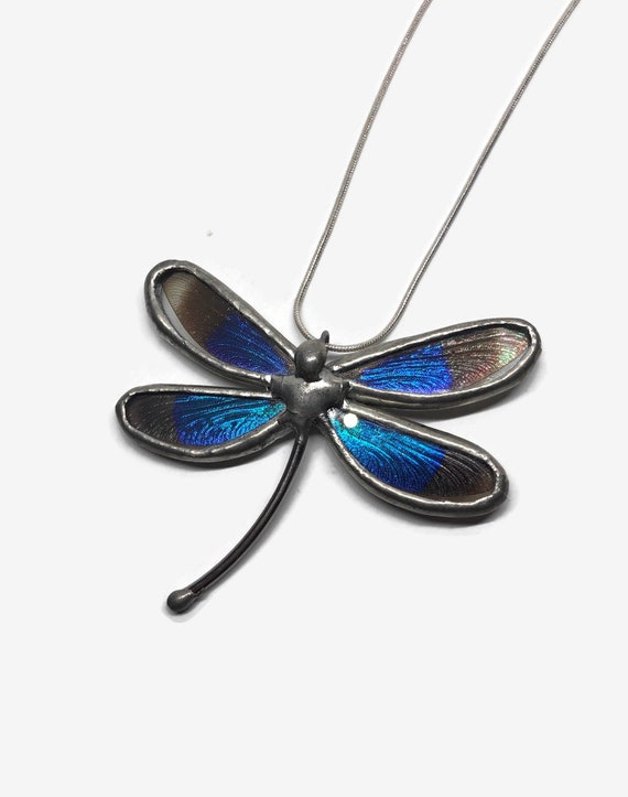 Dragonfly jewelry, statement jewelry, butterfly pendant, unique jewelry, insect jewelry, dragonfly necklace, gifts for her, gifts