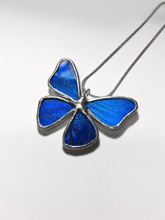 Blue morpho butterfly, unique gifts for mom,  Real Butterfly Wing, blue morpho, jewelry for her, Insect jewelry, butterfly taxidermy, gifts