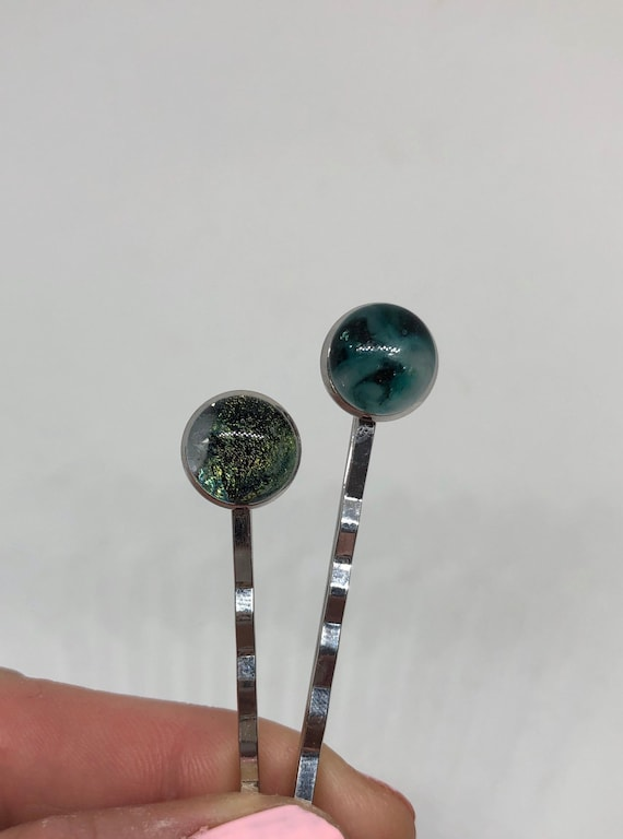 Fused glass jewelry, birthday gifts, glass jewelry, glass bobby pins, bridesmaid gifts, hair pin, bobby pins, unique gifts, Unique jewelry