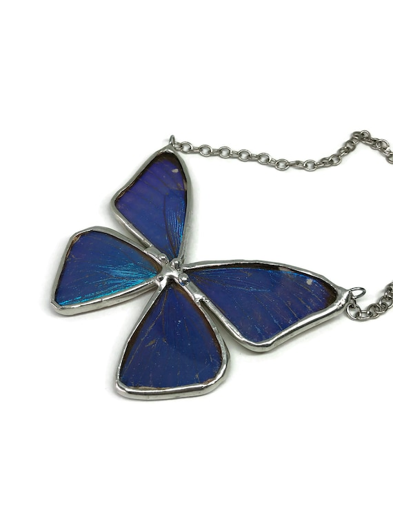 Unique Jewelry, blue morpho butterfly, butterfly necklace, Real Butterfly Wing, gifts for mom, butterfly Pendant, butterfly taxidermy, gifts