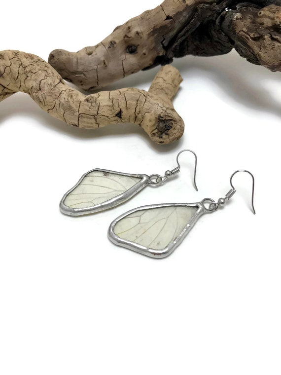 Real butterfly jewelry, real butterfly wing, Butterfly earrings, Insect jewelry, butterfly Wing Earrings, insect jewelry, Glass Earrings