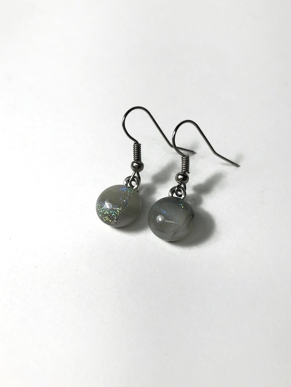 Glass earrings, unique gifts for her, statement jewelry, dichroic glass earrings, jewelry for her, fused glass earrings, best friend gifts