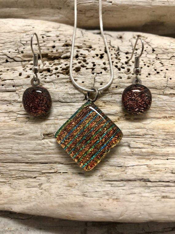dichroic glass jewelry, fused glass jewelry, dichroic glass pendant, fused glass pendant, fused glass necklace, fused glass earring, glass